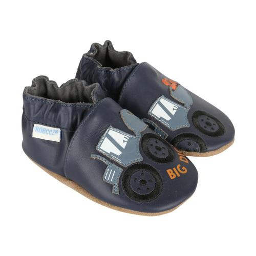 Robeez Baby Big Dig Soft Soles Shoes Navy