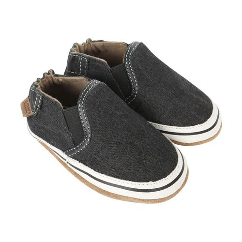 Robeez Baby Liam Basic Black Soft Soles Shoes Black