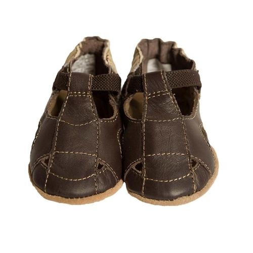 Robeez Baby Fisherman Sandal Brown Soft Soles Shoes Brown