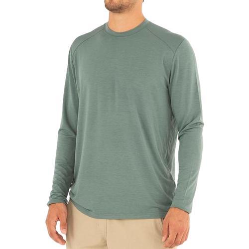 Free Fly Men's Bamboo Midweight Long Sleeve Shirt Juniper_111