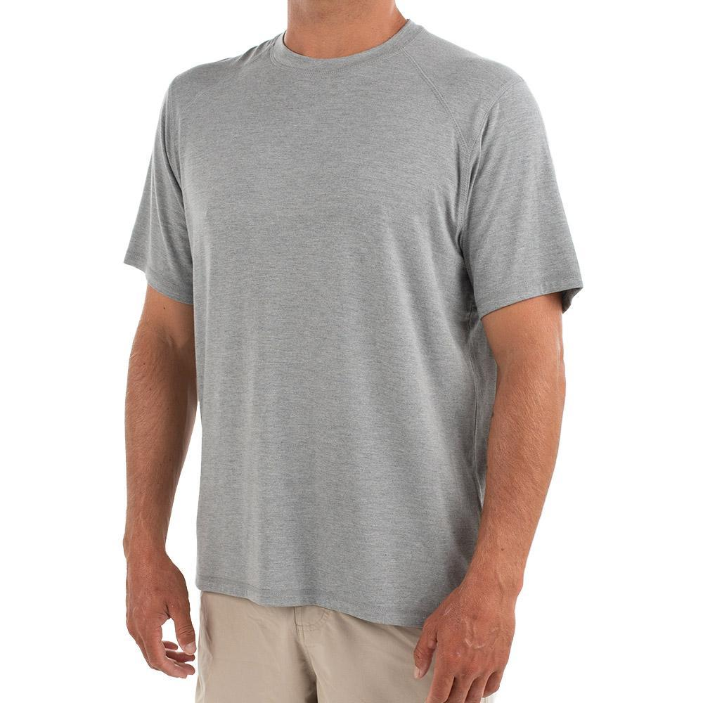 Free Fly Men's Bamboo Motion Tee HTHRGREY101