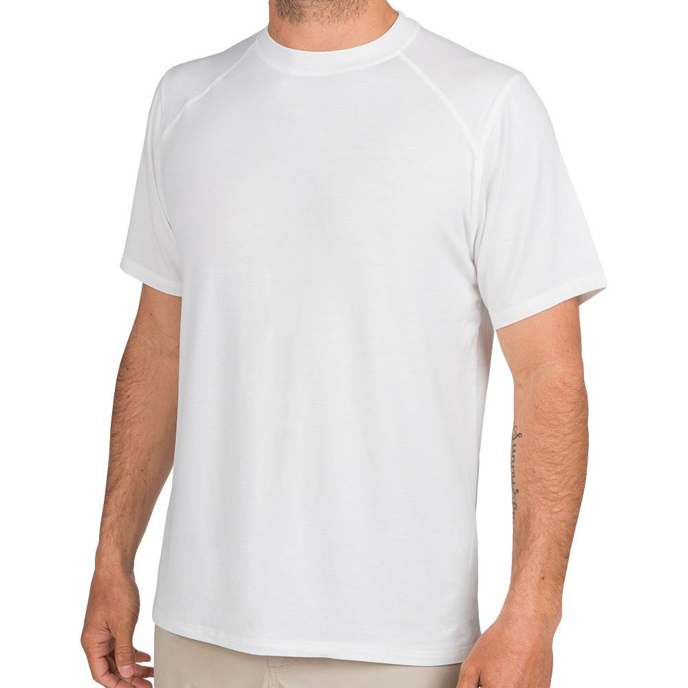 Free Fly Men's Bamboo Motion Tee WHITE102