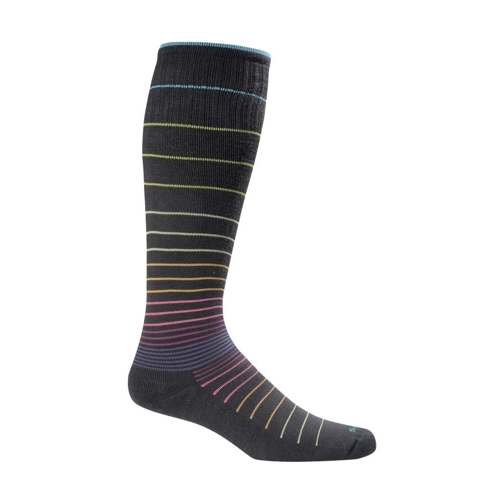 SockWell Women's Circulator Graduated Compression Socks BLKSTRIPE901