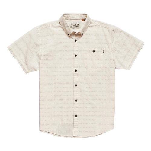 Howler Brothers Men's Mansfield Portals Dobby Short Sleeve Shirt Sandstone