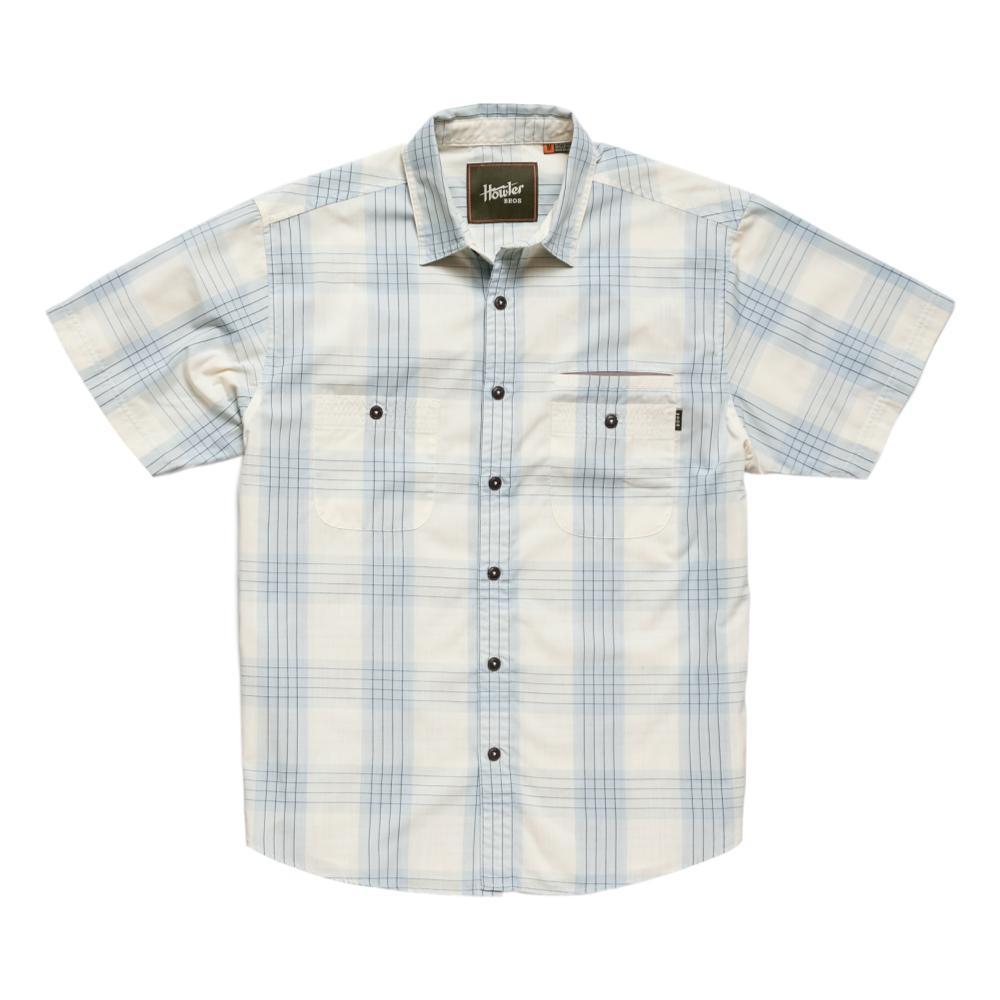 Howler Brothers Men's Aransas Big Pain Plaid Short Sleeve Shirt RISBLUE
