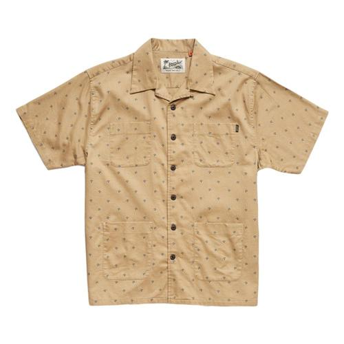 Howler Brothers Men's Sunset Scout Arrowhead Print Short Sleeve Shirt Khaki