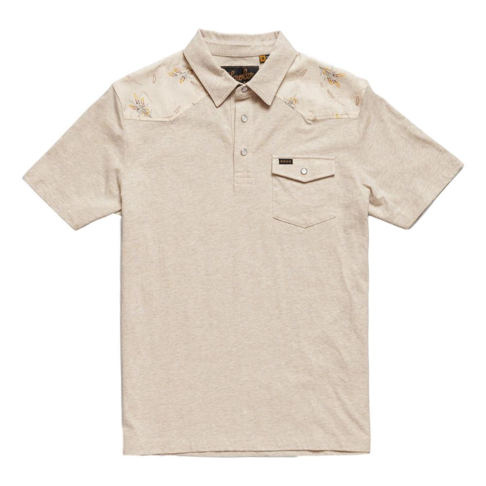 Howler Brothers Men's Ranchero Printed Placket Polo LATTE