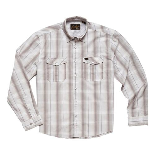 Howler Brothers Men's Gaucho Thornton Plaid Snapshirt Quartz