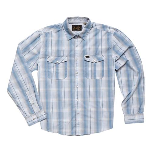 Howler Brothers Men's Gaucho Thornton Plaid Snapshirt Stoblue