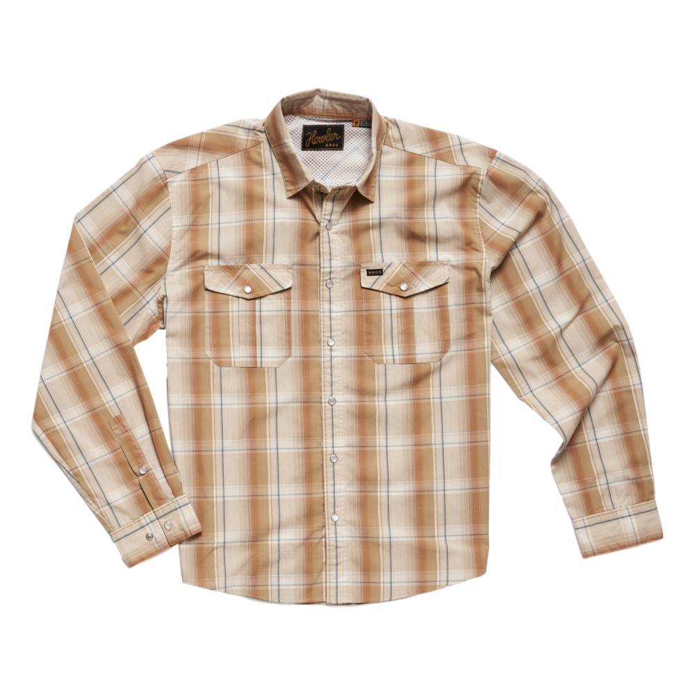 Howler Brothers Men's Gaucho Thornton Plaid Snapshirt TAN