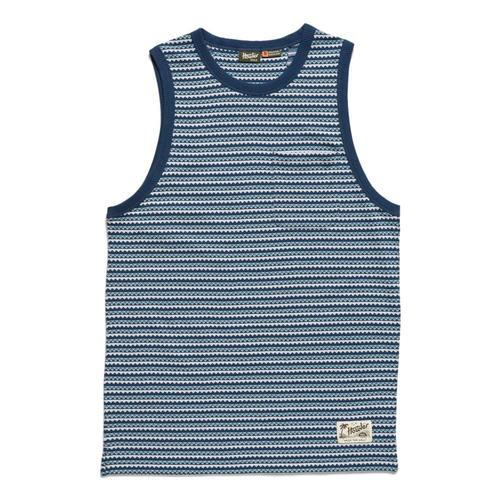 Howler Brothers Men's Zuma Jacquard Tank T Blues