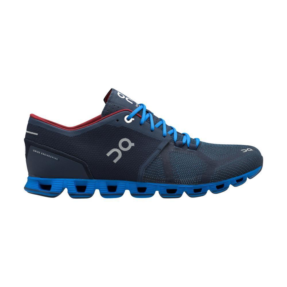 On Men's Cloud X Running Shoes MIDNT.CBLT