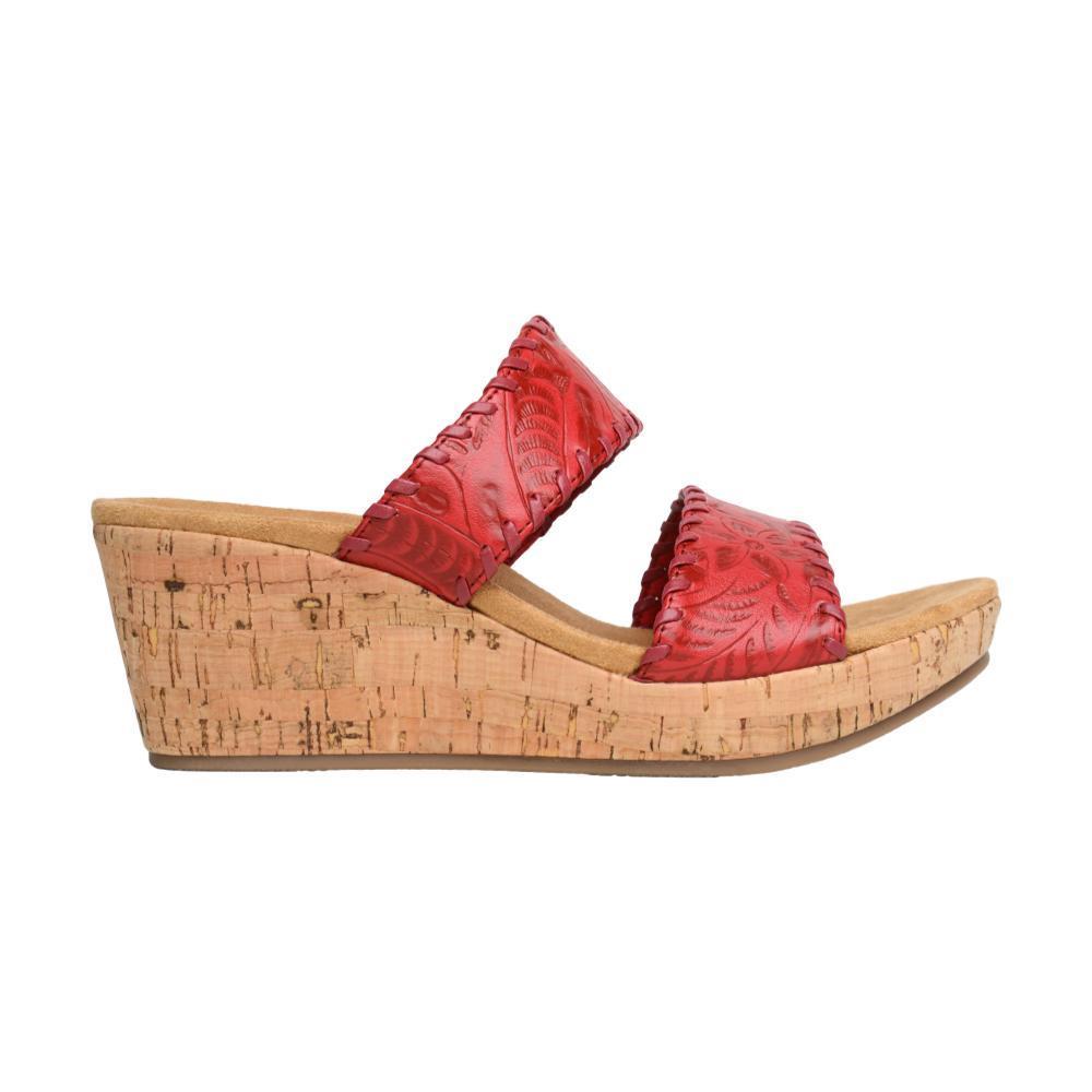 Minnetonka Women's Bertie Wedge Sandals RED_RED