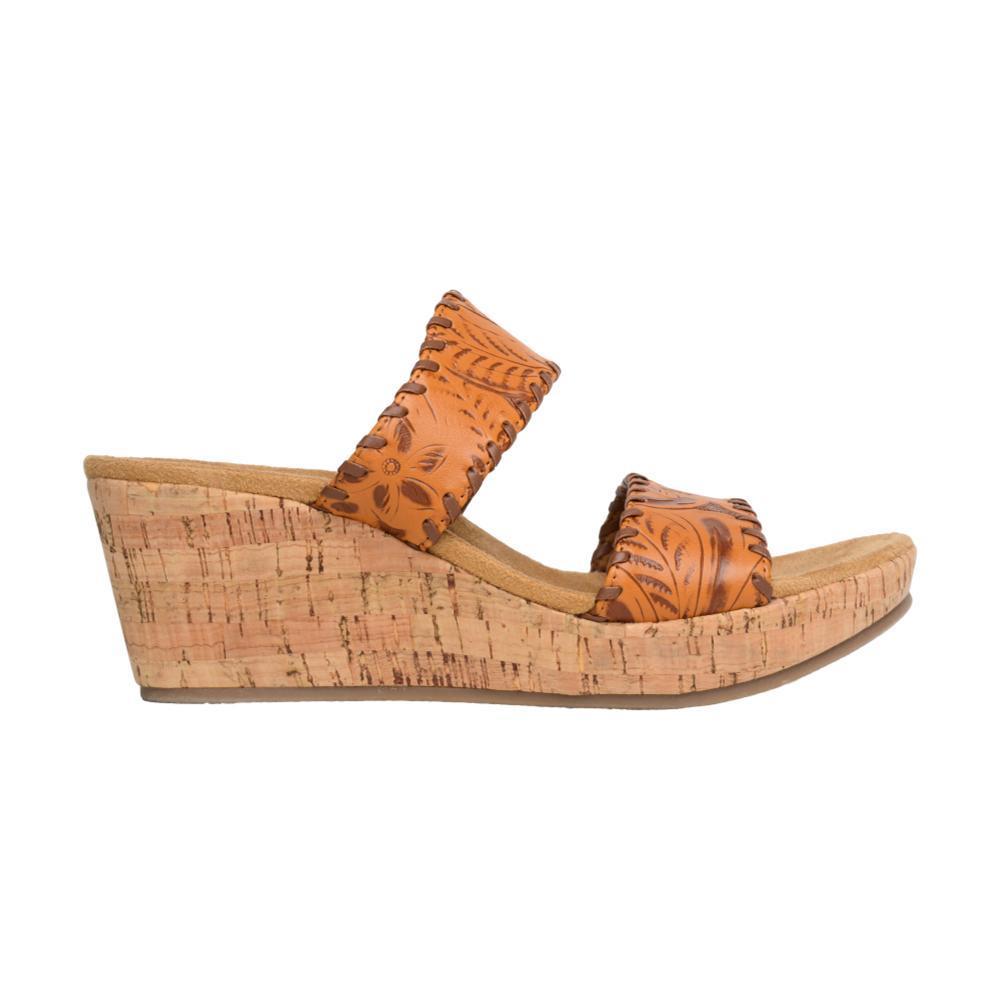 Minnetonka Women's Bertie Wedge Sandals TAN_TAN