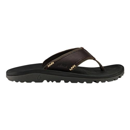 OluKai Men's Kua'aina Sandals Dkwd.Blk_6340