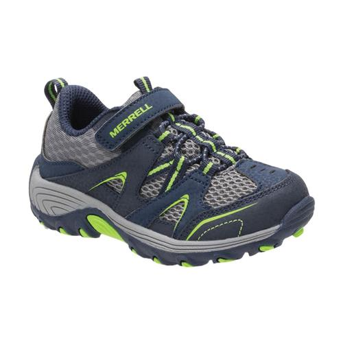 Merrell Little Kids Trail Chaser Jr. Shoes Nvygreen