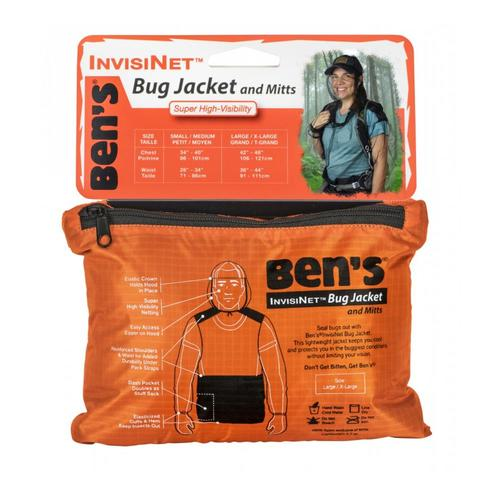 Ben's InvisiNet Bug Jacket & Mitts - L/XL .