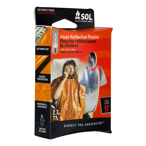 Survive Outdoors Longer Heat Reflective Poncho .