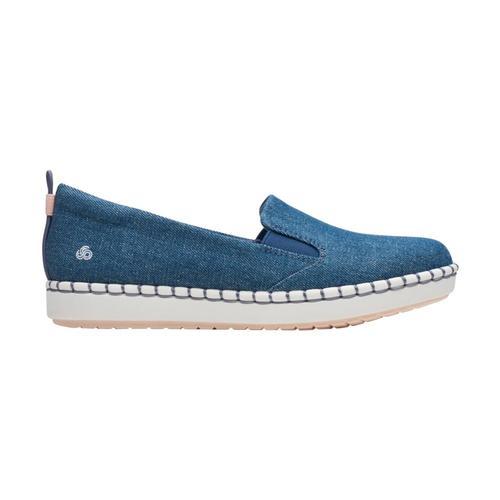 Clarks Women's Step Glow Slip Shoes Denim