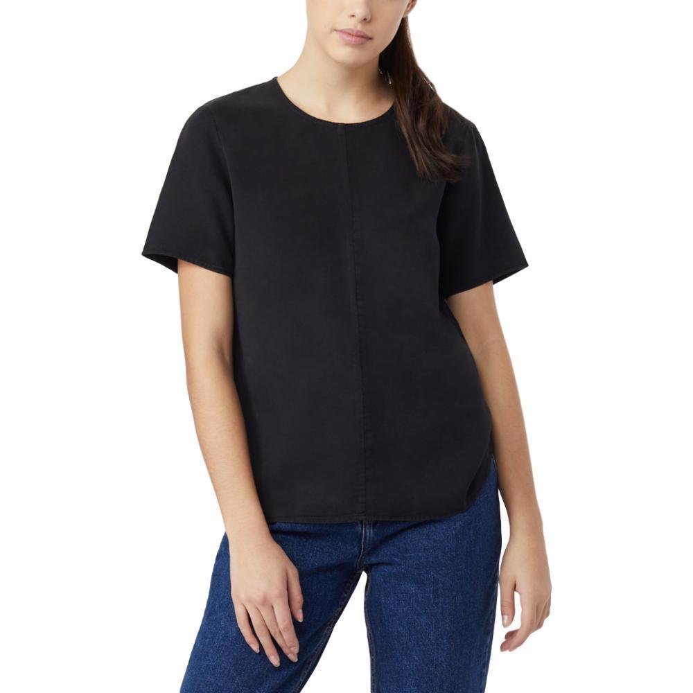 tentree Women's Langford Short Sleeve Shirt METEORITE