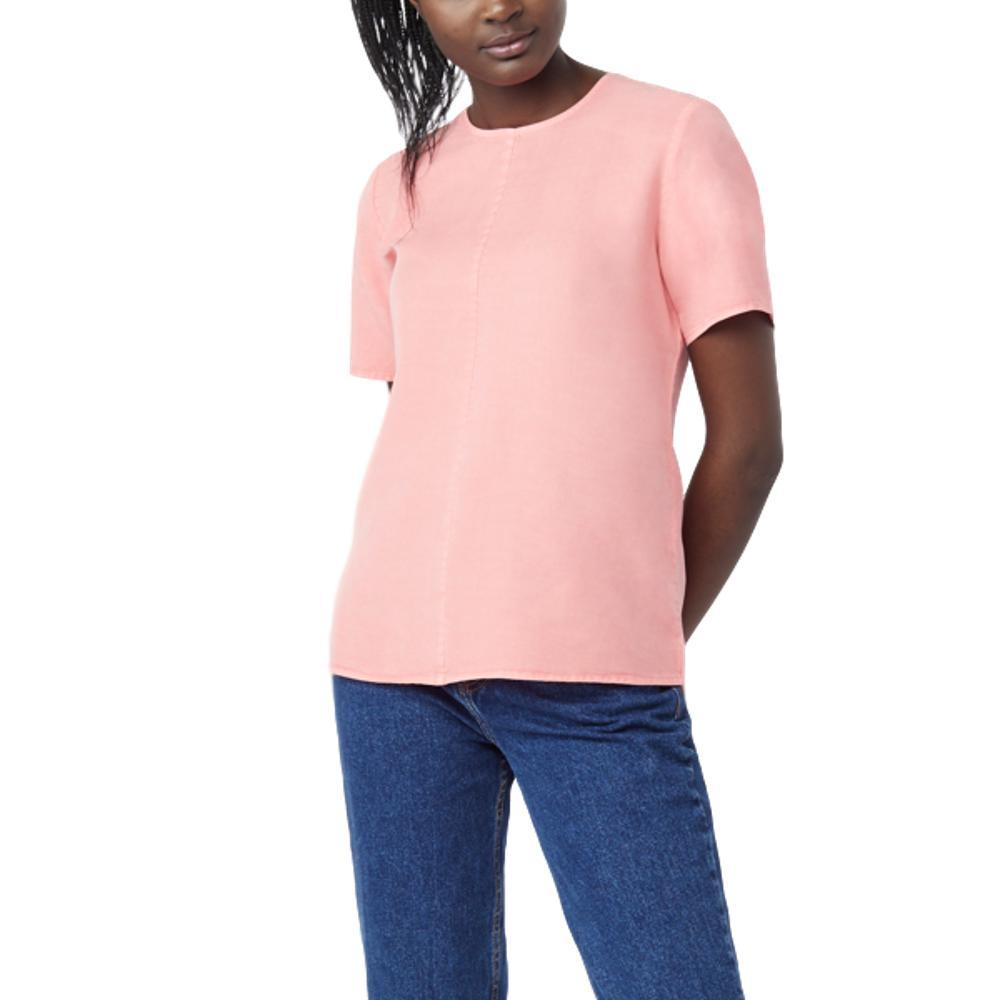 tentree Women's Langford Short Sleeve Shirt ROSE