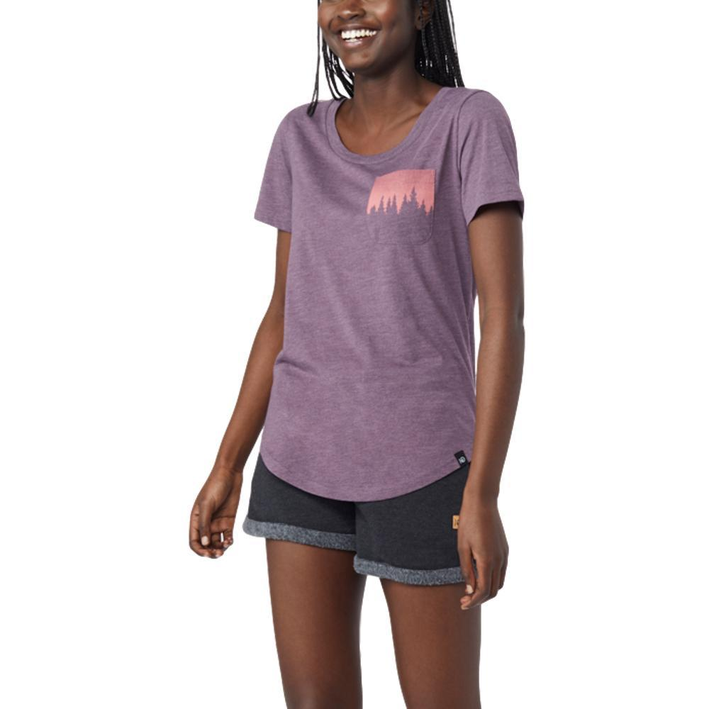 tentree Women's Juniper Pocket T Shirt VINVIO_PUR