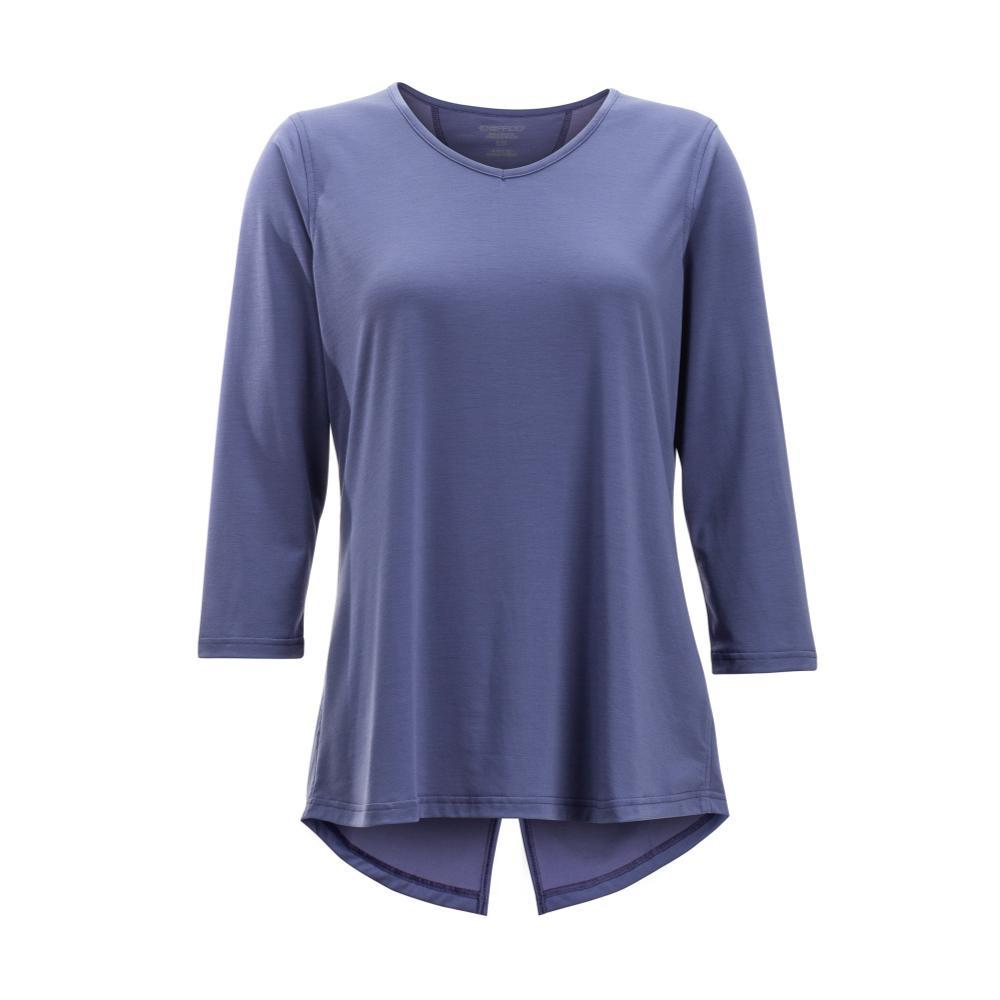 ExOfficio Women's Wanderlux 3/4 Sleeve Shirt BLUEHERON