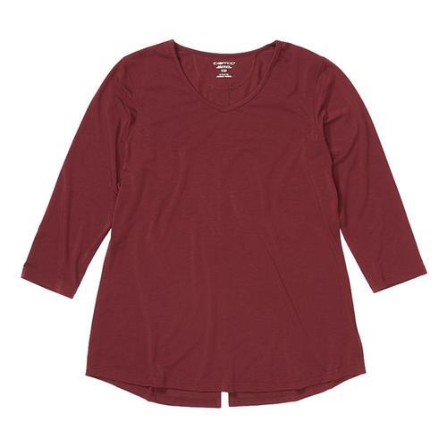ExOfficio Women's Wanderlux 3/4 Sleeve Shirt Vine_3603