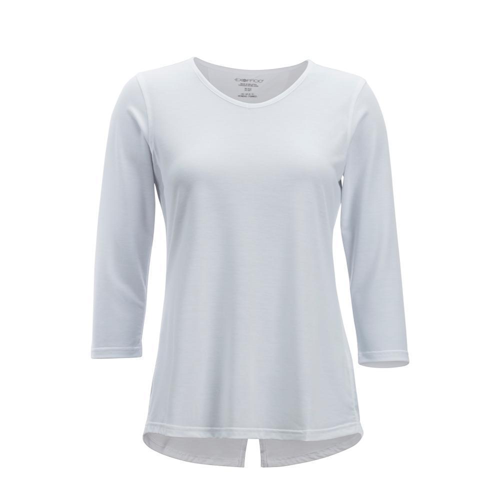 ExOfficio Women's Wanderlux 3/4 Sleeve Shirt WHITE