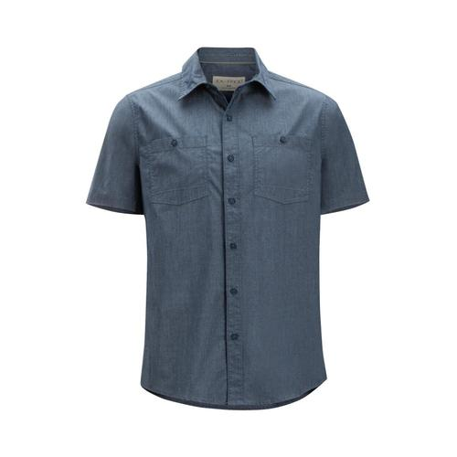 ExOfficio Men's Gaillac Short Sleeve Shirt Navy