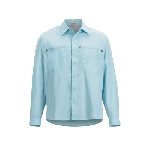 ExOfficio Men's Reef Runner Long Sleeve Shirt Airblue