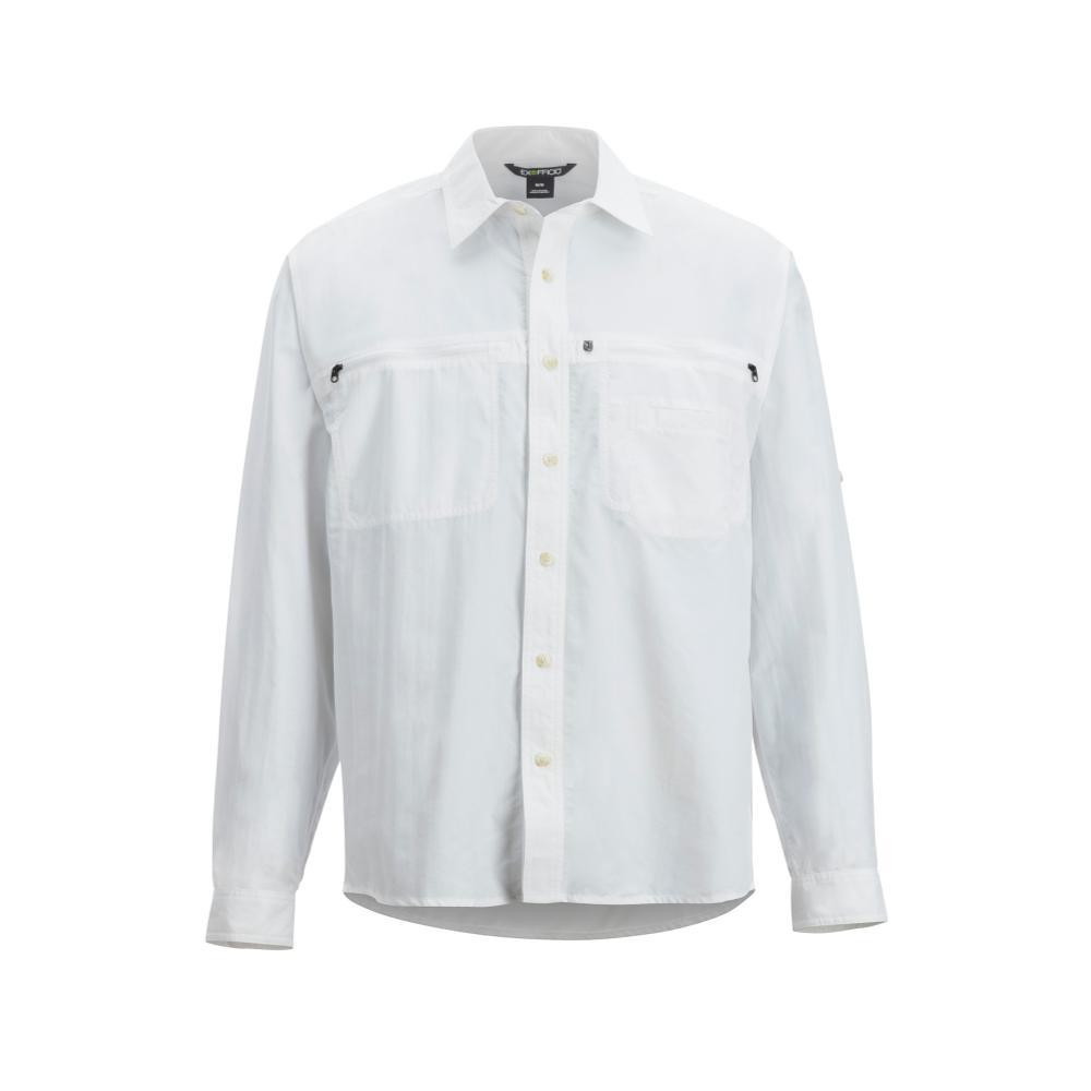 ExOfficio Men's Reef Runner Long Sleeve Shirt WHITE