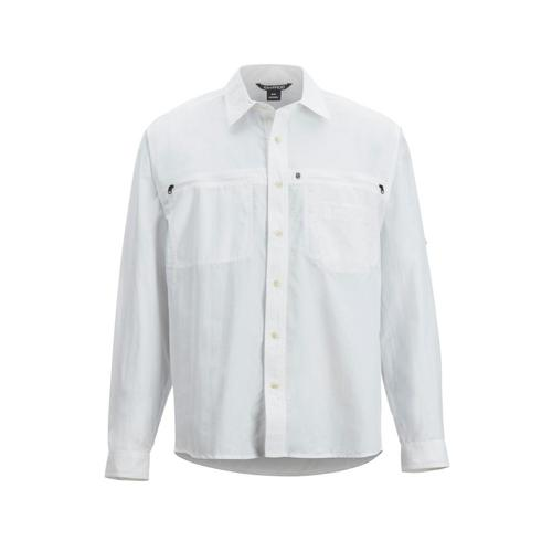 ExOfficio Men's Reef Runner Long Sleeve Shirt White