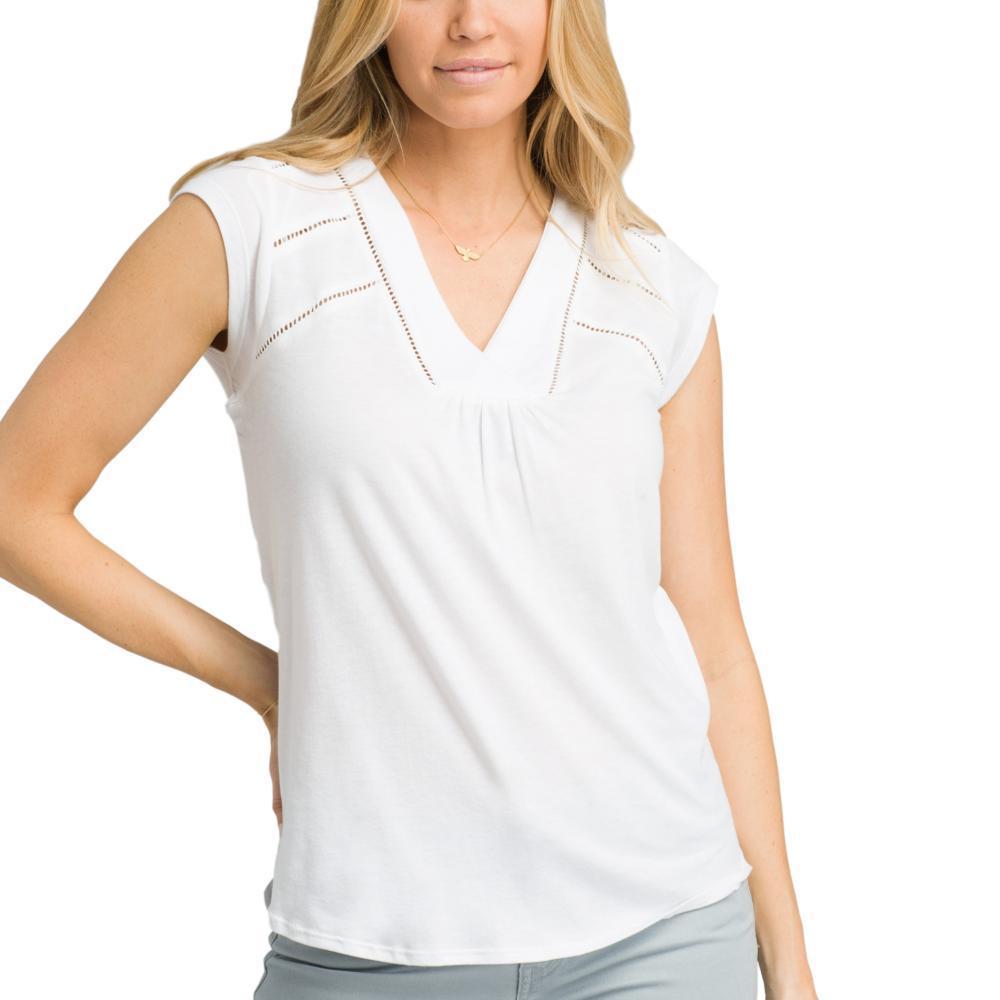 prAna Women's Novelle Top WHITE