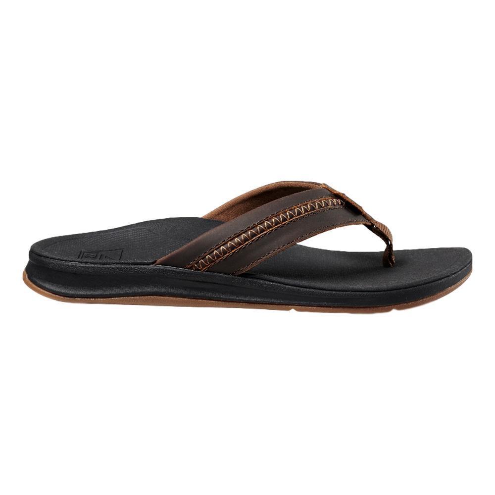 Reef Men's Leather Ortho-Bounce Coast Sandals BLK.BRN_BKB