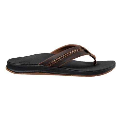 Reef Men's Leather Ortho-Bounce Coast Sandals Blk.Brn_bkb