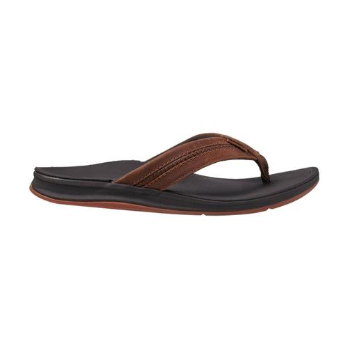 Reef Men's Leather Ortho-Bounce Coast Sandals Brown_bro