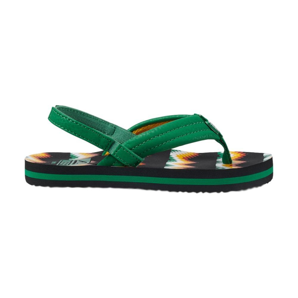 Reef Kids Little Ahi Sandals BLKGRN_KGN