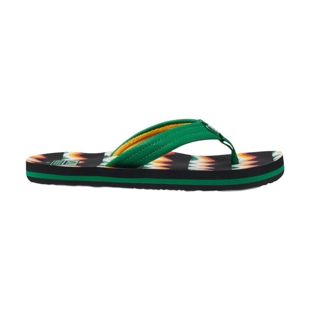 Reef Kids Ahi Sandals BLKGRN_KGN
