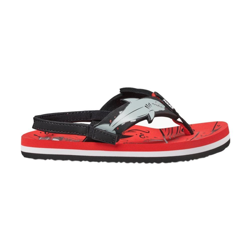 Reef Little Ahi Shark Sandals RED_RSH
