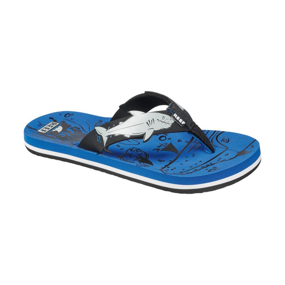 Reef Kids Ahi Shark Sandals BLUE_USH
