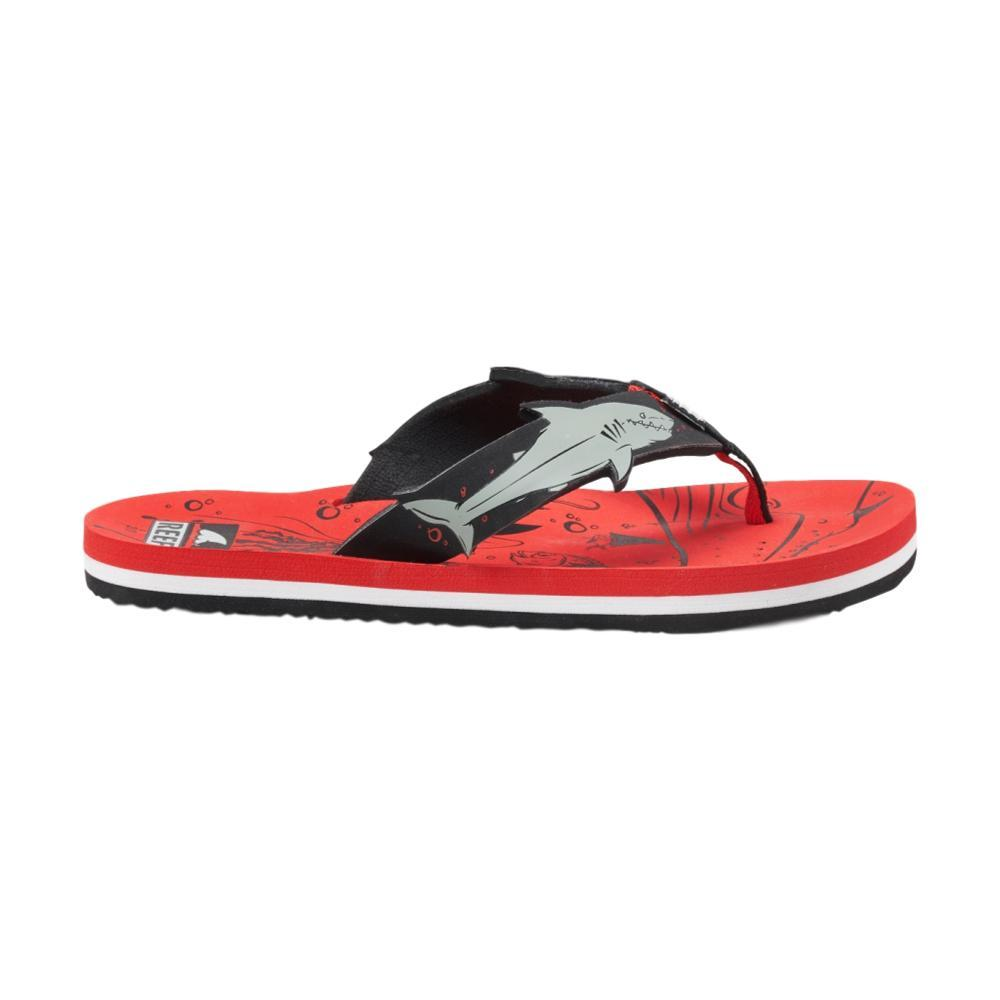 Reef Kids Ahi Shark Sandals RED_RSH