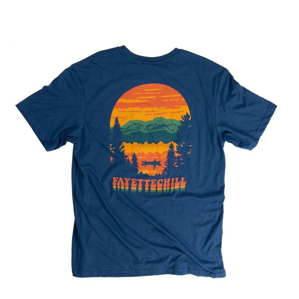 Fayettechill Men's Afterglow Tee GLASSBLUE