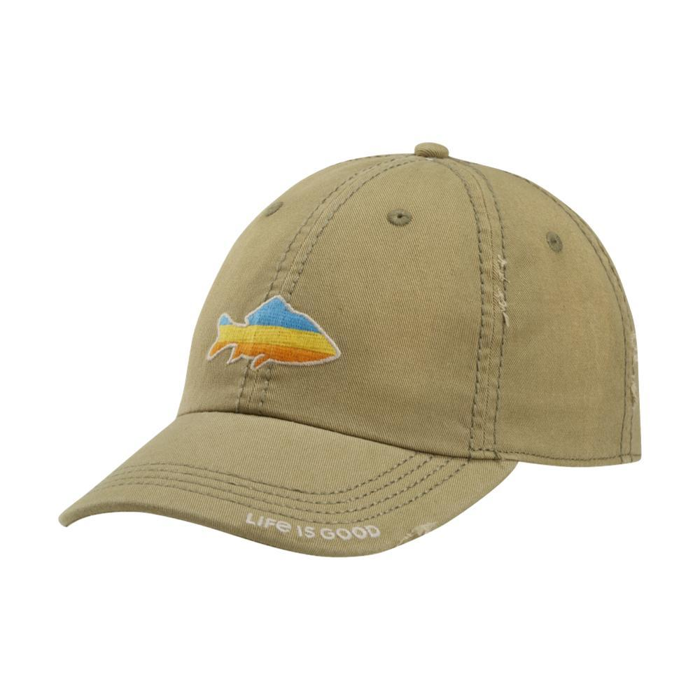 Life is Good Sunset Fish Sunwashed Chill Cap FATIGUEGRN