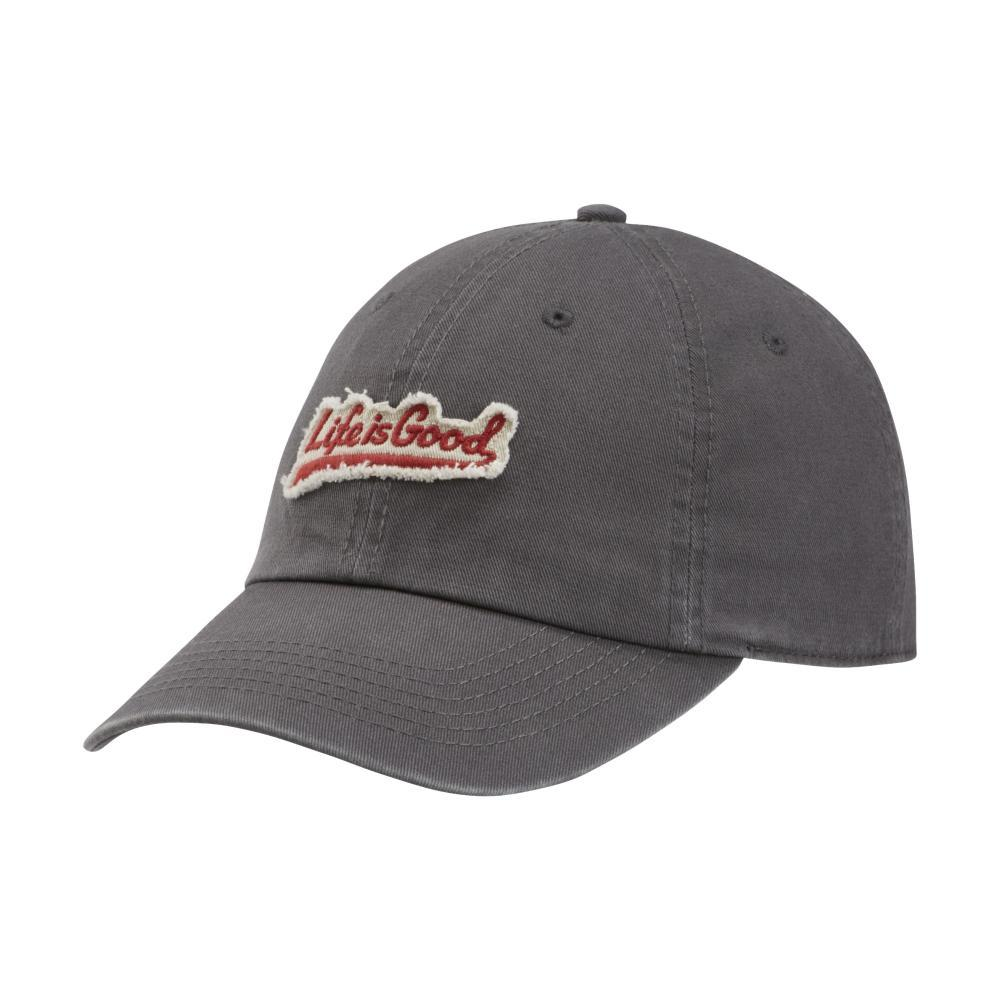 Life is Good Ballyard Applique Tattered Chill Cap SLATEGRAY