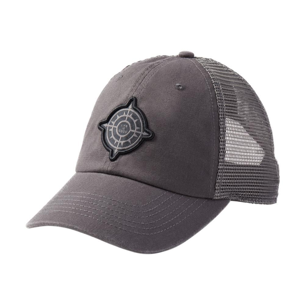 Life is Good Compass Patch Soft Mesh Back Cap SLATEGRAY