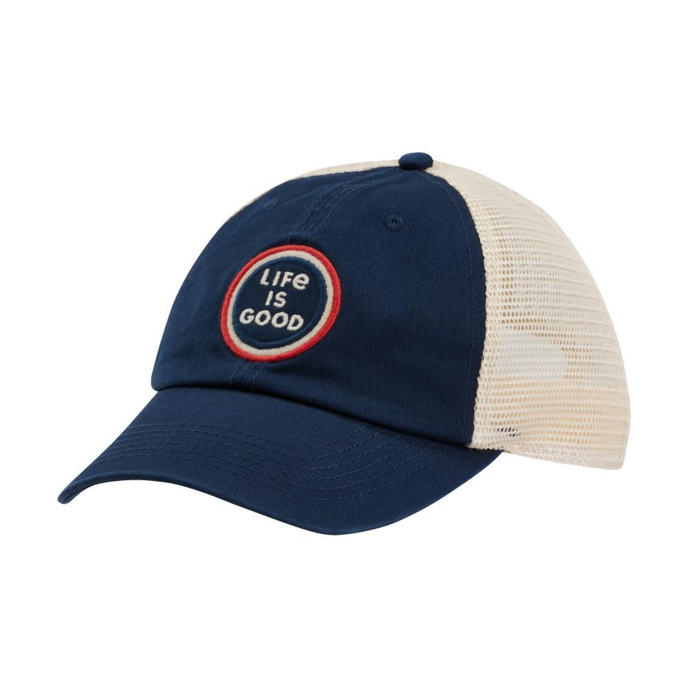 Life is Good LIG Coin Soft Mesh Back Cap DARKESTBLU