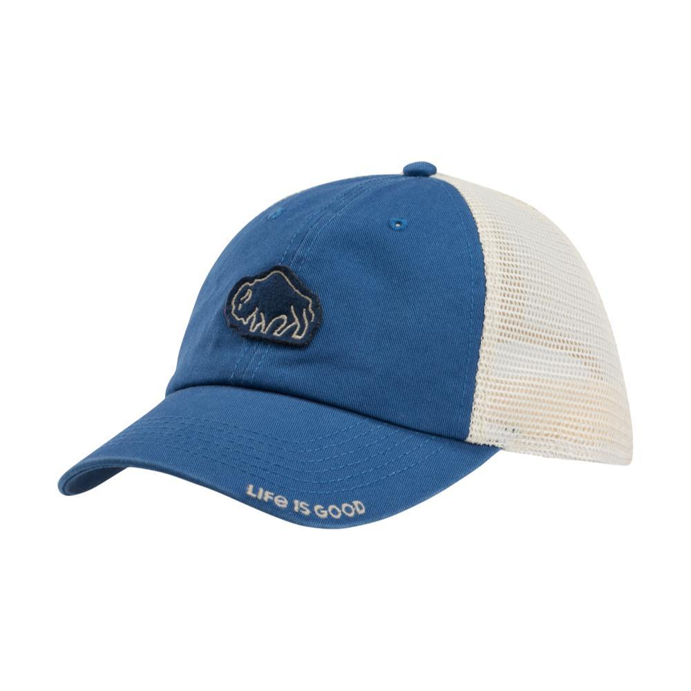 Life is Good Bison Patch Soft Mesh Back Cap VINTAGEBLU