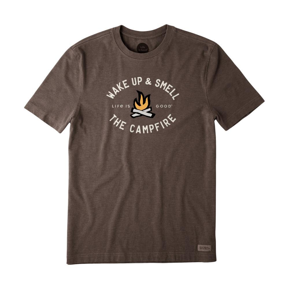 Life Is Good Men's Smell The Campfire Crusher Tee HTHRICHBRN