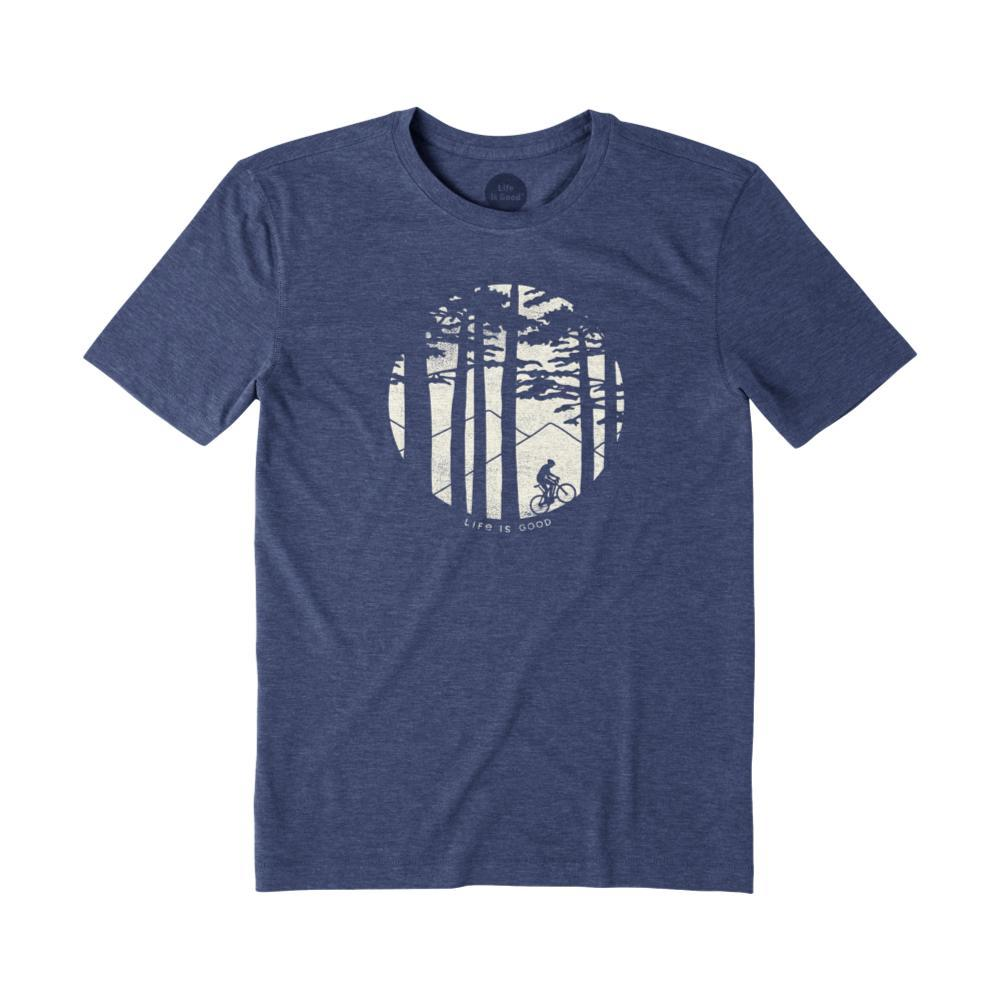 Life Is Good Men's Mountain Bike Woods Cool Tee DARKESTBLU